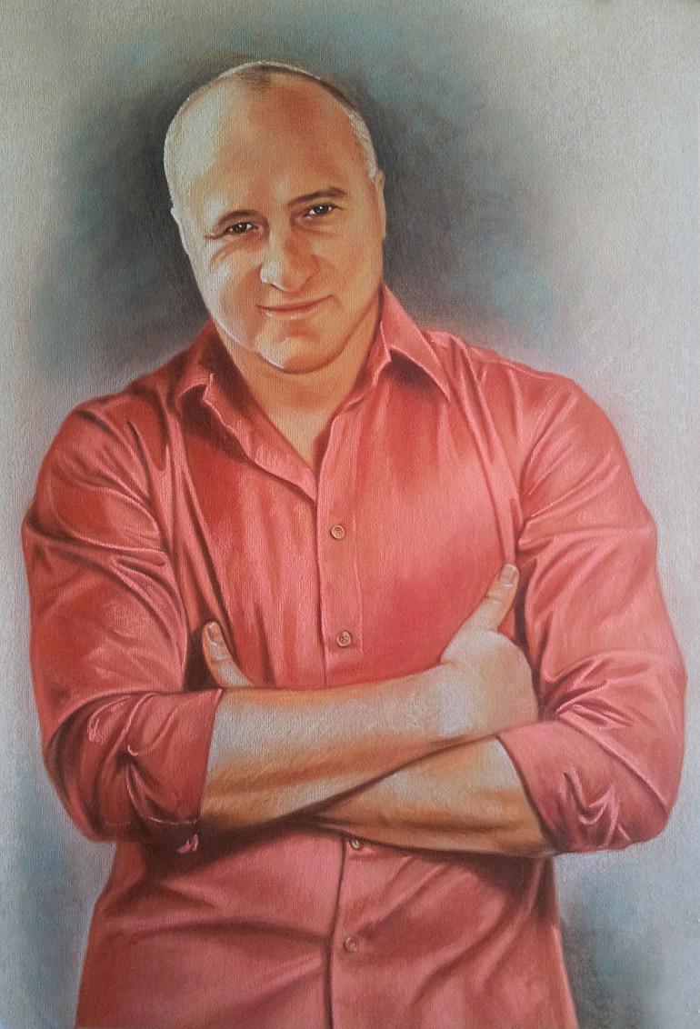 Портрет пастелью для мужа, неподдельно, по настоящему…