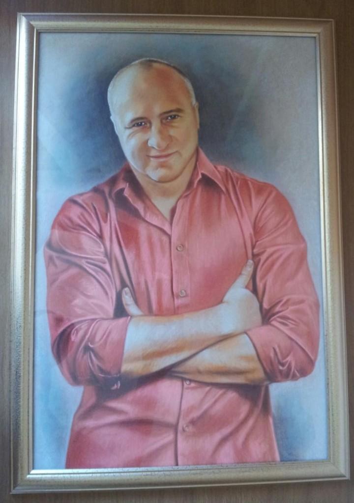 Портрет пастелью мужчине на заказ