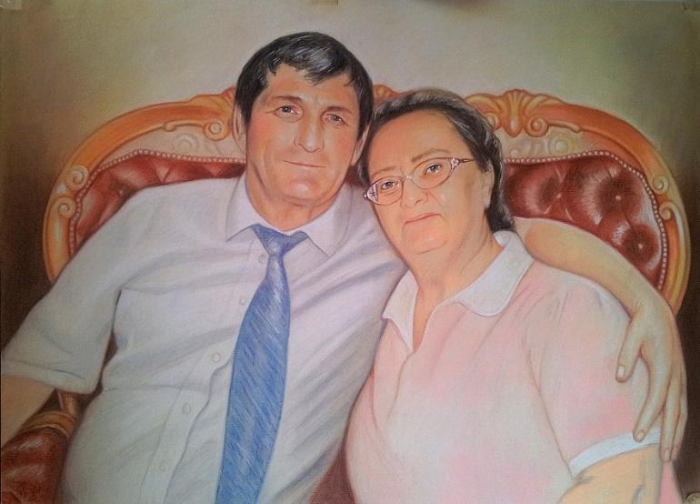 Портрет пастелью родителям в подарок Екатеринбург…