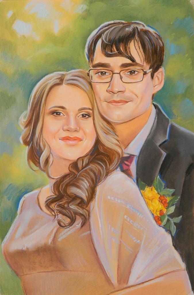 заказать семейный портрет пастелью в екатеринбурге