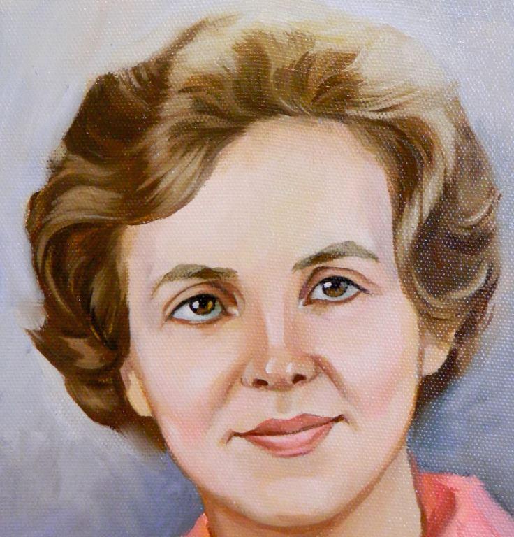портрет пастелью по черно белой фотографии
