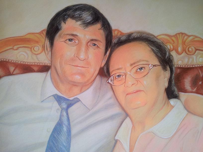 портрет пастелью родителям на заказ екатеринбург