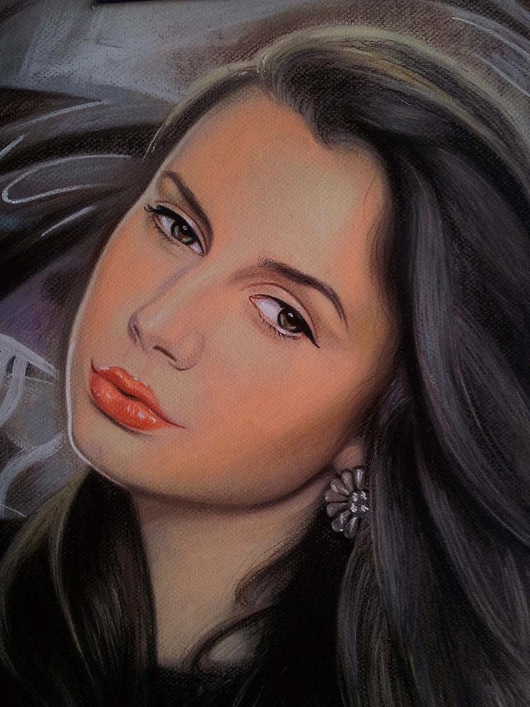 Портрет пастелью на заказ для жены екатеринбург