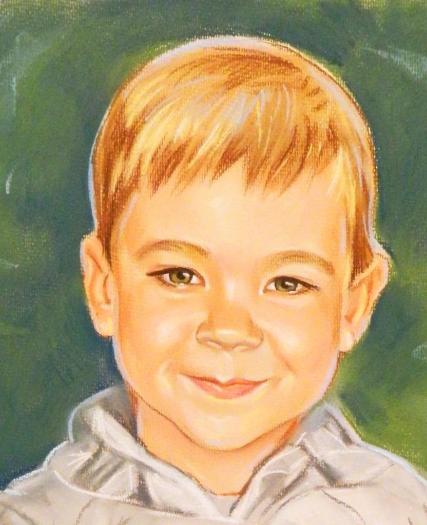 заказать портрет пастелью сыну