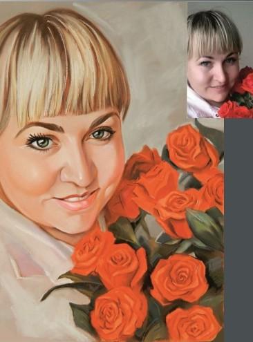 Нежный портрет пастелью для вашей девушки…