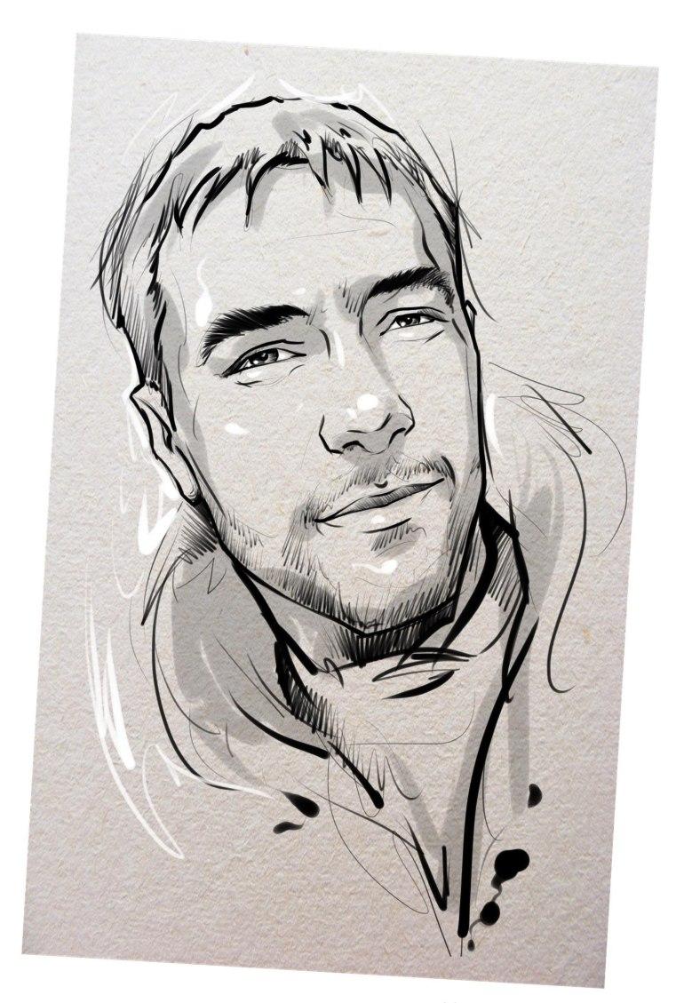 Портрет карандашом любимому мужу в Екатеринбурге…