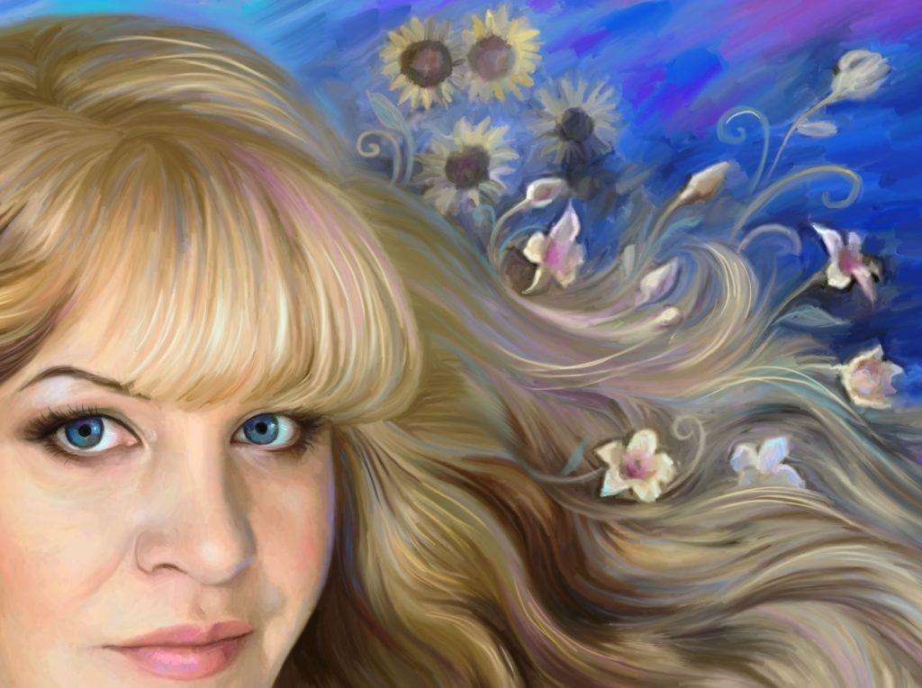 заказать ее портрет на холсте в Екатеринбурге