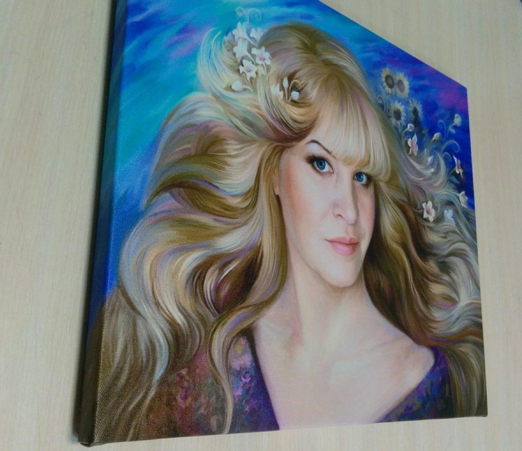 арт портрет на холсте по фото в Екатеринбурге