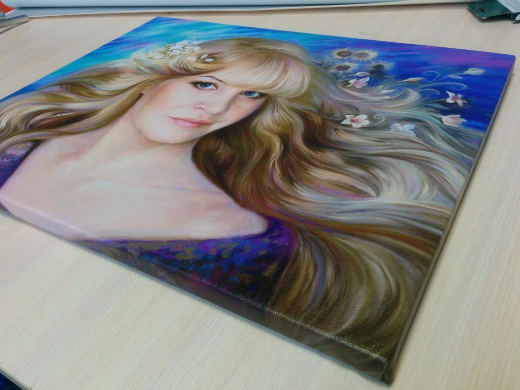 подарок портрет на холсте под заказ