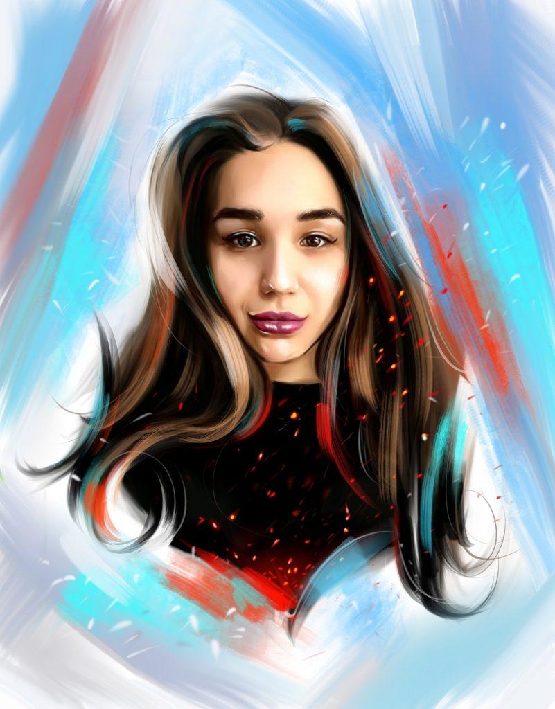 портрет дочери