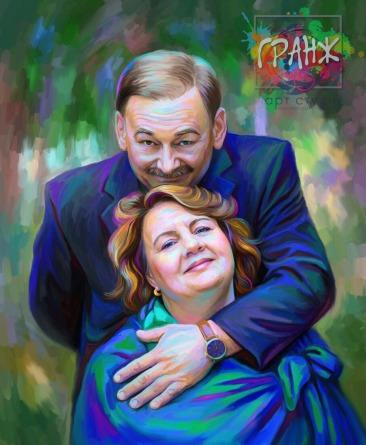 Портрет по фото на холсте Екатеринбург