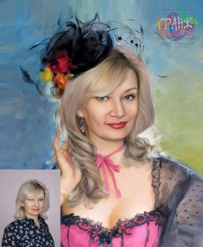 Заказать арт портрет по фото на холсте в Екатеринбурге…