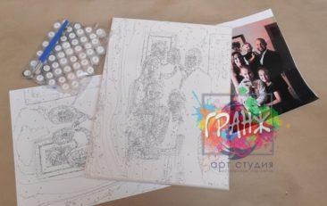Картина по номерам по фото, портреты на холсте и дереве в Екатеринбурге